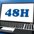 quarante huit heures portable montre service 48h ou livraison — Photo