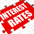 Interest Rate Puzzle Shows Investment Or Borrowing Percent — Stock Photo #32854471