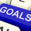Goals Key Shows Objectives Aims Or Aspirations — Zdjęcie stockowe