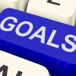 Goals Key Shows Objectives Aims Or Aspirations — Foto de Stock