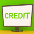 Credit Screen Shows Finance Debt Or LoFor Purchasing — Stock Photo #32854527