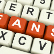 Fans Keys Show Follower Or Internet Friend — Stock Photo #32854535