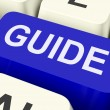 Stock Photo: Guide Key Shows Leader Organizer Or Guidance