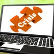 Crisis Laptop Means Catastrophe Troubles Or Critical Situation — Stock Photo #32854563