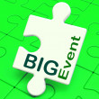 图库照片: Big Event Puzzle Shows Celebration Occasion And Performance