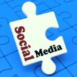 Social MediPuzzle Shows Online Community Relation — Stock Photo #32854741