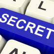 Secret Key Means Confidential Or Discree — Stock Photo