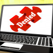 Stock Photo: Denied Laptop Shows Denial Deny Decline Or Refusals