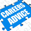 Careers Advice Puzzle Shows Employment Guidance Advising And Ass — Stock Photo