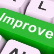 Improve Key Means Better Or Enhanc — Foto de Stock