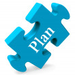 Постер, плакат: Plan Puzzle Shows Objectives Planning And Organizing