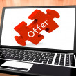 Stock Photo: Offer Laptop Shows Offers Discounts And Reduction
