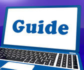 Guide Laptop Shows Help Organizer Or Guidance — Stock Photo