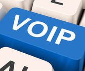 Voip Key Means Voice Over Internet Protoco — Stock Photo