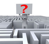 Question In Maze Shows Confusion — Stock Photo