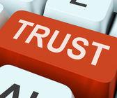 Trust Key Means Believe Or Fait — Stock Photo
