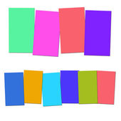 Four And Six Blank Paper Slips Show Copyspace For 4 Or 6 Letter — Stock Photo