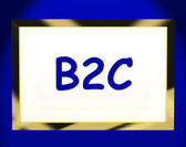 B2c On Screen Shows Business To Customers Or Consumers — Stock Photo