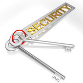 Security Keys Shows Secure Locked And Safe — Stock Photo