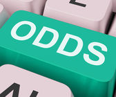 Odds Key Shows Online Chance Or Gambling — Stock Photo