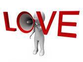 Любовь 3d характер показывает романтика любви и чувства — Стоковое фото