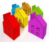 Hus symboler betyder hus till salu — Stockfoto