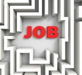 Job In Maze Shows Finding Jobs — Stock Photo