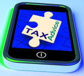 Tax Advice Phone Message Shows Taxation Help Online — Stock Photo