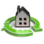 House Icon Shows Home Investing — Stock Photo