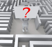 Question In Maze Showing Confusion — Stock Photo