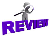 Review Character Shows Reviewing Evaluate And Reviews — Stock Photo