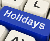 Holidays Key Means Leave Or Brea — Stock Photo