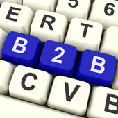 B2b Key Shows Trading Commerce Or Business — Stock Photo
