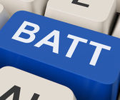 Batt Key Shows Battery Or Batteries Recharge — Stock Photo