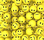 Smileys Show Happy Cheerful Faces — Stock Photo