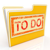 To Do File Shows Organise And Planning Tasks — Stock Photo