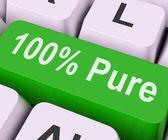Sto procent čistého klíč znamená absolutní uncorrup — Stock fotografie