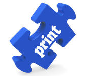 Print Key Shows Printing Copying Or Printout — Stock Photo