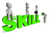 Skill Characters Shows Expertise Skilled And Competence — Stock Photo