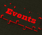 Events Puzzle Means Occasions Events Or Functions — Stock Photo