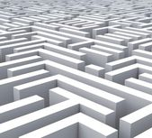 Maze Shows Problem Or Complexity — Stock Photo