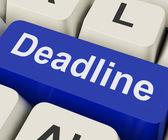 Deadline Key Means Target Time Or Finish Dat — Stock fotografie