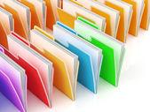 Folders Showing Organizing And Data — Stock Photo