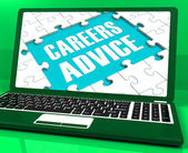Careers Advice Laptop Shows Employment Guidance And Assistance — Stock Photo