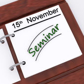 Seminar Appointment Shows Schedule Scheduling And Presentation — Stock Photo