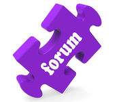 Forum Puzzle Shows Online Conversations Community Discussion And — Stock Photo