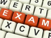 Prüfung Prüfung Prüfungen zeigen oder online testen — Stockfoto