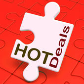 Hot Deals Puzzle Means Amazing Offer Deal — Stock Photo
