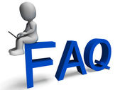 Faq Showing Frequently Asked Questions — Stock Photo