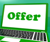 Offer Computer Shows Promotion Discounts And Reduction — Stock Photo